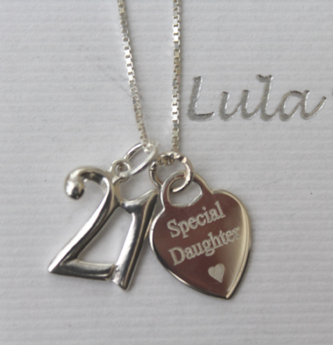 21st birthday jewellery gift for a daughter  - FREE ENGRAVING